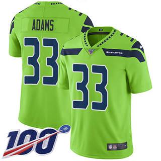 Men's Seahawks #33 Jamal Adams Green Stitched Football Limited Rush 100th Season Jersey