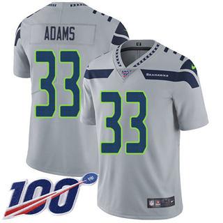 Men's Seahawks #33 Jamal Adams Grey Alternate Stitched Football 100th Season Vapor Untouchable Limited Jersey