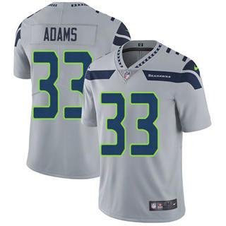Men's Seahawks #33 Jamal Adams Grey Alternate Stitched Football Vapor Untouchable Limited Jersey