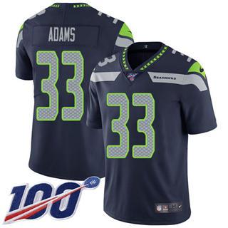 Men's Seahawks #33 Jamal Adams Steel Blue Team Color Stitched Football 100th Season Vapor Untouchable Limited Jersey