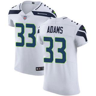 Men's Seahawks #33 Jamal Adams White Stitched Football New Elite Jersey