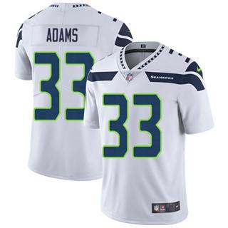 Men's Seahawks #33 Jamal Adams White Stitched Football Vapor Untouchable Limited Jersey