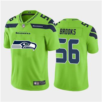 Men's Seahawks #56 Jordyn Brooks Green Football Team Big Logo Fashion Vapor Limited Jersey