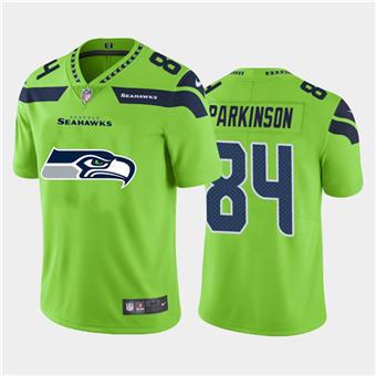 Men's Seahawks #84 Colby Parkinson Green Football Team Big Logo Fashion Vapor Limited Jersey