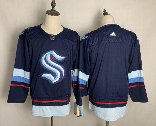 Men's Seattle Kraken Blank Navy Home 2020 New Team Authentic Stitched Hockey Jersey