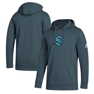 Men's Seattle Kraken Primary Logo Fleece Pullover Hoodie Charcoal