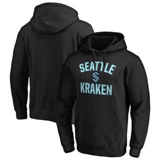 Men's Seattle Kraken Victory Arch Pullover Hoodie Black