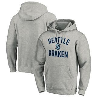 Men's Seattle Kraken Victory Arch Pullover Hoodie Heather Gray