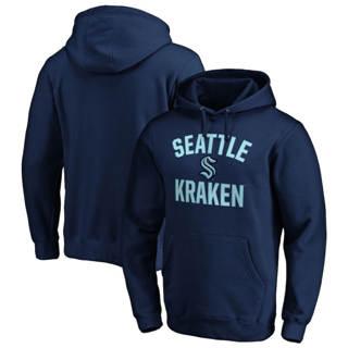Men's Seattle Kraken Victory Arch Pullover Hoodie Navy