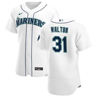 Men's Seattle Mariners #31 Donovan Walton White Home 2020 Authentic Player Baseball Jersey