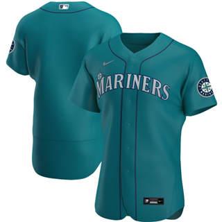 Men's Seattle Mariners 2020 Aqua Alternate Authentic Official Team Baseball Jersey