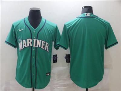 Men's Seattle Mariners Blank Green Cool Base Stitched Baseball Jersey