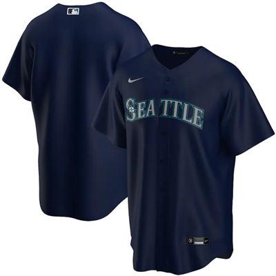 Men's Seattle Mariners Blank Navy Cool Base Stitched Baseball Jersey
