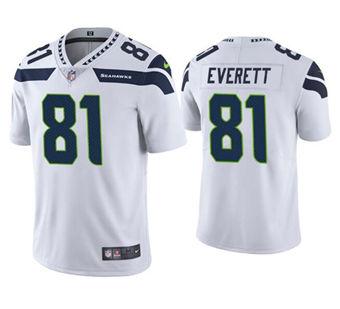 Men's Seattle Seahawks #81 Gerald Everett White Vapor Untouchable Limited Stitched Jersey