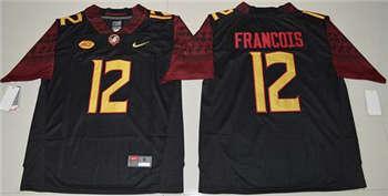 Men's Seminoles #12 Deondre Francois Black Limited Stitched NCAA Jersey