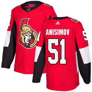 Men's Senators #51 Artem Anisimov Red Home Authentic Stitched Hockey Jersey