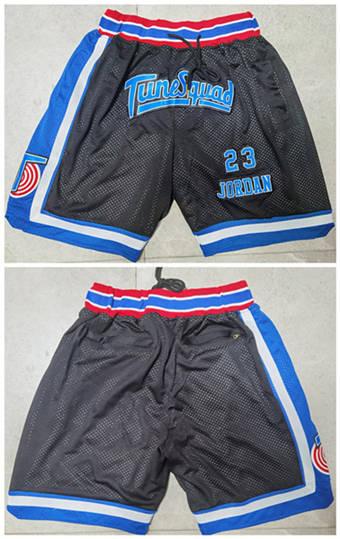 Men's Space Jam Tune Squad Black Basketball Shorts (Run Small)