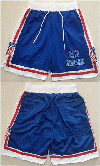 Men's Space Jam Tune Squad Blue Basketball Shorts (Run Small)