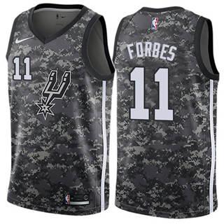 Men's Spurs #11 Bryn Forbes Black Basketball Swingman City Edition 2018-19 Jersey