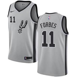 Men's Spurs #11 Bryn Forbes Silver Basketball Swingman Statement Edition Jersey