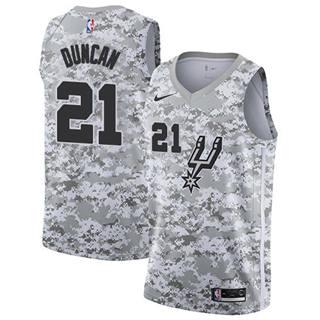 Men's Spurs #21 Tim Duncan White Camo Basketball Swingman Earned Edition Jersey