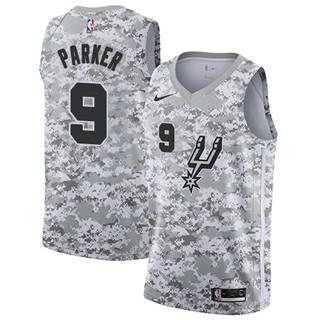 Men's Spurs #9 Tony Parker White Camo Basketball Swingman Earned Edition Jersey