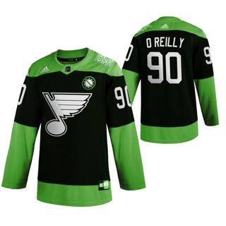 Men's St. Louis Blues #90 Ryan O'Reilly Green Hockey Fight nCoV Limited Hockey Jersey