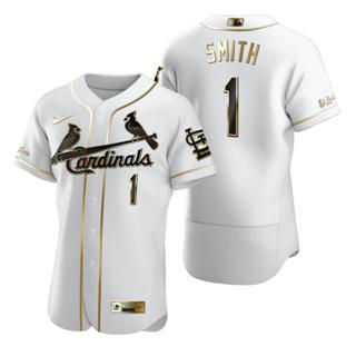 Men's St. Louis Cardinals #1 Ozzie Smith White 2020 Authentic Golden Edition Baseball Jersey