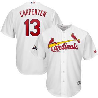 Men's St. Louis Cardinals #13 Matt Carpenter 2019 Postseason Official Cool Base Player Jersey White