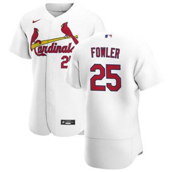 Men's St. Louis Cardinals #25 Dexter Fowler White Home 2020 Authentic Player Baseball Jersey