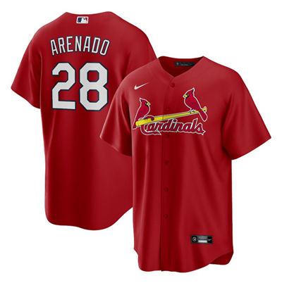 Men's St. Louis Cardinals #28 Nolan Arenado Red Cool Base Stitched Baseball Jersey