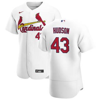 Men's St. Louis Cardinals #43 Dakota Hudson White Home 2020 Authentic Player Baseball Jersey