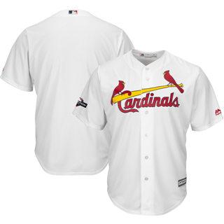 Men's St. Louis Cardinals 2019 Postseason Official Cool Base Player Jersey White