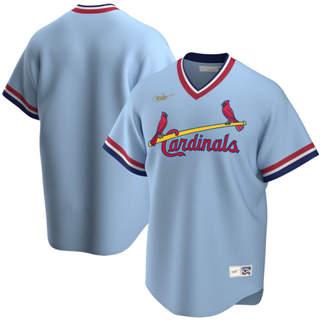 Men's St. Louis Cardinals 2020 Road Cooperstown Collection Team Baseball Jersey Light Blue