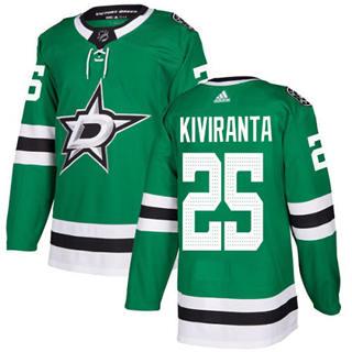Men's Stars #25 Joel Kiviranta Green Home Authentic Stitched Hockey Jersey