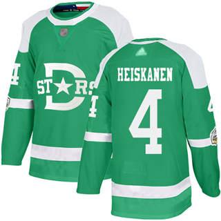 Men's Stars #4 Miro Heiskanen Green Authentic 2020 Winter Classic Stitched Hockey Jersey