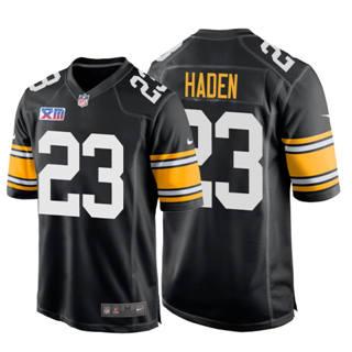 Men's Steelers #23 Joe Haden Super Bowl XIII 1978 Retro Game Football Jersey Black