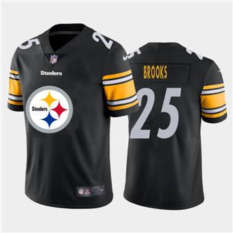 Men's Steelers #25 Antoine Brooks Black Football Team Big Logo Fashion Vapor Limited Jersey