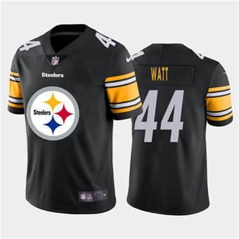 Men's Steelers #44 Derek Watt Black Football Team Big Logo Fashion Vapor Limited Jersey