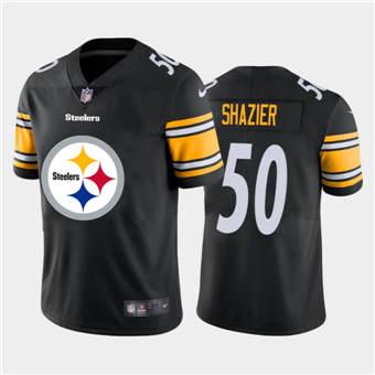 Men's Steelers #50 Ryan Shazier Black Football Team Big Logo Fashion Vapor Limited Jersey