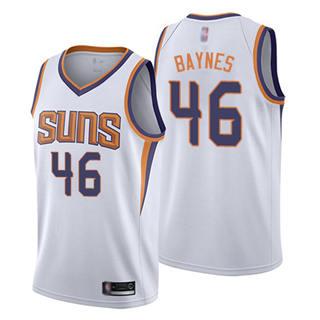 Men's Suns #46 Aron Baynes White Basketball Swingman Association Edition Jersey