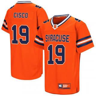 Men's Syracuse Orange #19 Andre Cisco Orange 2019 College Football Jersey
