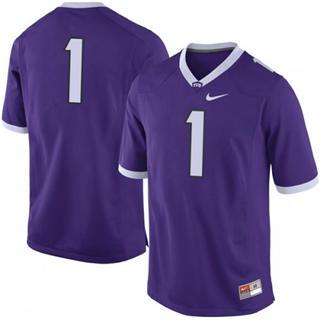 Men's TCU Horned Frogs #1 Jalen Reagor Purple No Name NCAA Jersey