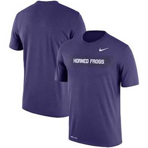 Men's TCU Horned Frogs  Sideline Seismic Legend Performance T-Shirt – Purple