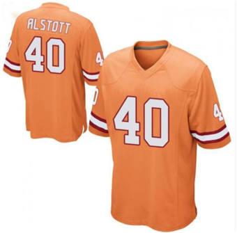 Men's Tampa Bay Buccaneers #40 Mike Alstott Orange Stitched Jersey
