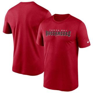 Men's Tampa Bay Buccaneers Fan Gear Legend Wordmark Performance T-Shirt Red