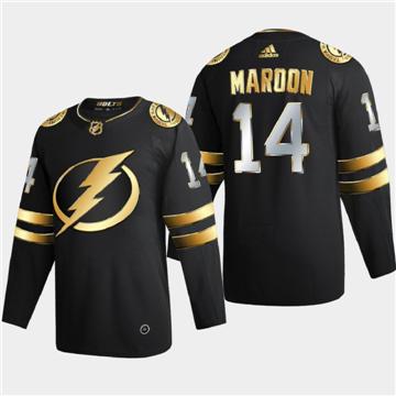 Men's Tampa Bay Lightning #14 Patrick Maroon Black Golden Edition Limited Stitched Hockey Jersey