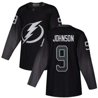 Men's Tampa Bay Lightning #9 Tyler Johnson Black Alternate  Stitched Hockey Jersey