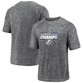 Men's Tampa Bay Lightning 2020 Stanley Cup Champions Locker Room Laser Shot Performance T-Shirt Gray