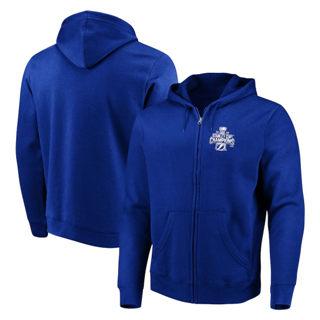 Men's Tampa Bay Lightning F2020 Stanley Cup Champions Defending Zone Full-Zip Hoodie Blue